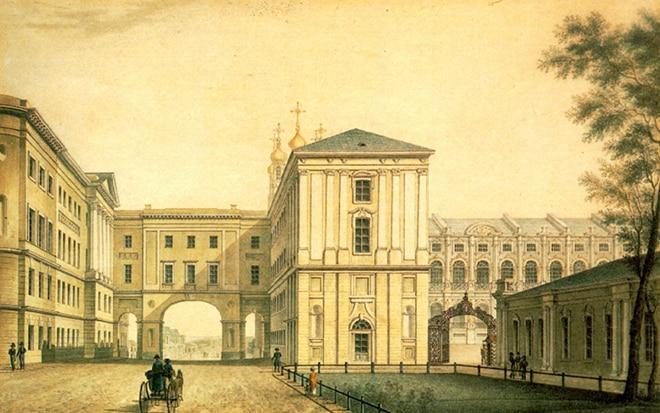 Царскосельский лицей, где учился Пушкин