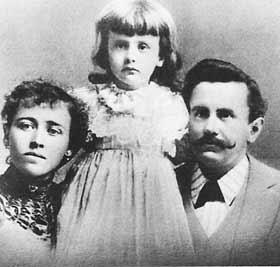 О. Генри с женой и дочерью