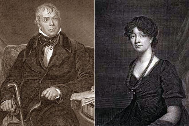 Вальтер Скотт и жена Шарлотта