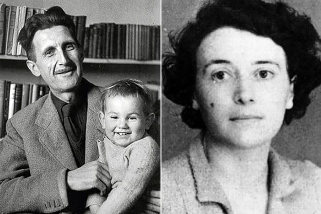 Джордж Оруэлл и Айлин О'Шогнесси с сыном Ричардом